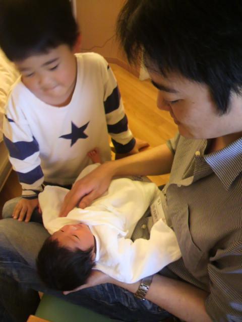 出産後の面会にて