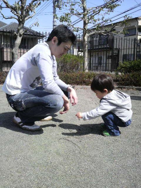 お父さんと公園