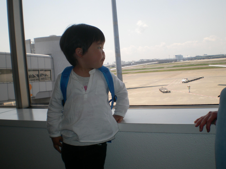 飛行機待ち