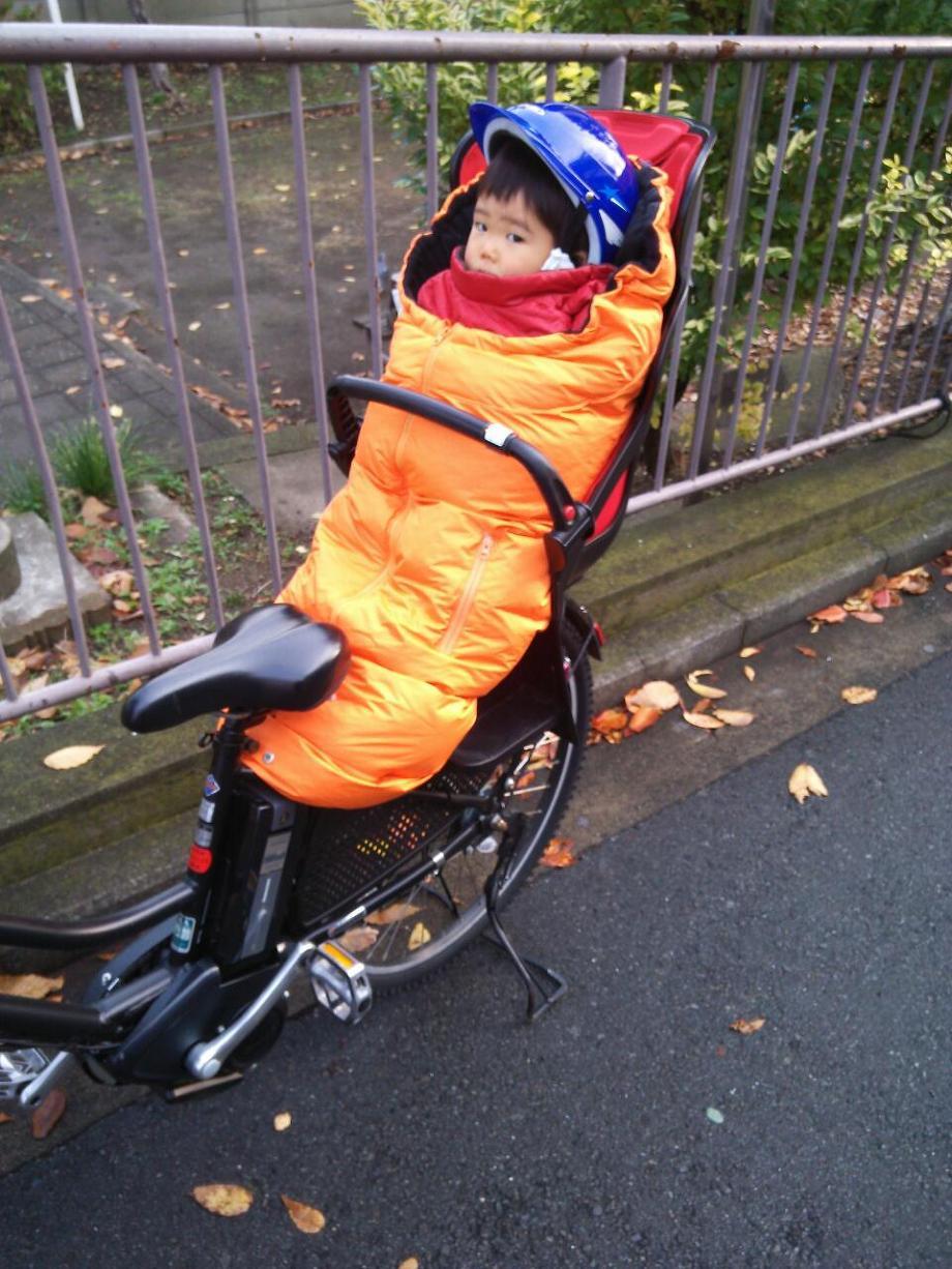 ... 子供乗せ自転車の防寒アイデア